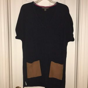 Tommy Bahama Sweater Tunic w/Suede Pockets